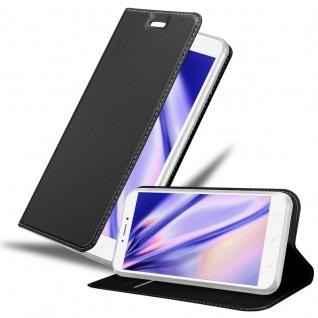Cadorabo Hülle für Xiaomi Mi Max 2 in CLASSY SCHWARZ - Handyhülle mit Magnetverschluss, Standfunktion und Kartenfach - Case Cover Schutzhülle Etui Tasche Book Klapp Style