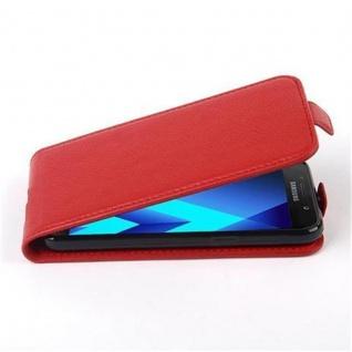 Cadorabo Hülle für Samsung Galaxy A5 2017 in INFERNO ROT - Handyhülle im Flip Design aus strukturiertem Kunstleder - Case Cover Schutzhülle Etui Tasche Book Klapp Style