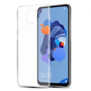 Cadorabo Hülle für Huawei MATE 30 LITE in VOLL TRANSPARENT Handyhülle aus flexiblem TPU Silikon Silikonhülle Schutzhülle Ultra Slim Soft Back Cover Case Bumper