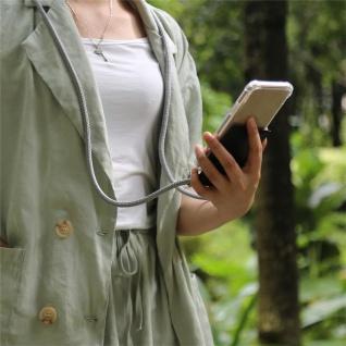 Cadorabo Handy Kette für Apple iPhone 8 PLUS / 7 PLUS / 7S PLUS in SILBER GRAU Silikon Necklace Umhänge Hülle mit Silber Ringen, Kordel Band Schnur und abnehmbarem Etui Schutzhülle - Vorschau 4