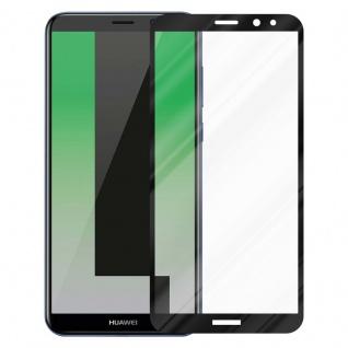 Cadorabo Vollbild Panzer Folie für Huawei MATE 10 LITE - Schutzfolie in TRANSPARENT mit SCHWARZ - Gehärtetes (Tempered) Display-Schutzglas in 9H Härte mit 3D Touch Kompatibilität - Vorschau 2