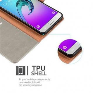 Cadorabo Hülle für Samsung Galaxy J5 2016 in CAPPUCCINO BRAUN ? Handyhülle mit Magnetverschluss, Standfunktion und Kartenfach ? Case Cover Schutzhülle Etui Tasche Book Klapp Style - Vorschau 4