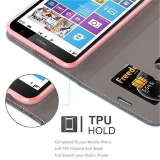 Cadorabo Hülle für Nokia Lumia 1320 in DUNKEL BLAU SCHWARZ - Handyhülle mit Magnetverschluss, Standfunktion und Kartenfach - Case Cover Schutzhülle Etui Tasche Book Klapp Style - Vorschau 3