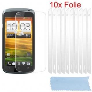 Cadorabo Displayschutzfolien für HTC One S - Schutzfolien in HIGH CLEAR ? 10 Stück hochtransparenter Schutzfolien gegen Staub, Schmutz und Kratzer