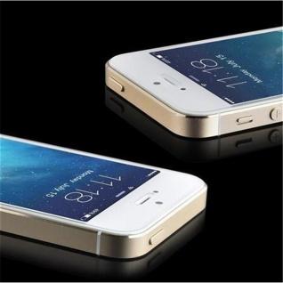 Cadorabo ! PREMIUM - Screen Protector Tempered Glass Hartglas Schutzfolie für iPhone 5, 5s, 5c Display Schutzglas 0, 3mm abgerundete Ecken - transparent - Vorschau 3