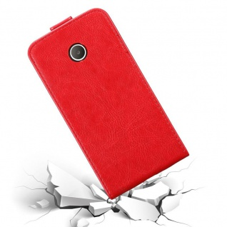 Cadorabo Hülle für Huawei Y330 in APFEL ROT Handyhülle im Flip Design mit Magnetverschluss Case Cover Schutzhülle Etui Tasche Book Klapp Style - Vorschau 5