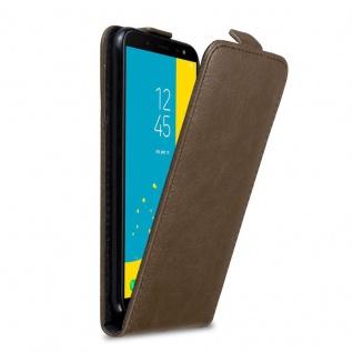 Cadorabo Hülle für Samsung Galaxy J6 2018 in KAFFEE BRAUN Handyhülle im Flip Design mit Magnetverschluss Case Cover Schutzhülle Etui Tasche Book Klapp Style