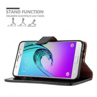Cadorabo Hülle für Samsung Galaxy J7 2016 in GRAPHIT SCHWARZ - Handyhülle mit Magnetverschluss, Standfunktion und Kartenfach - Case Cover Schutzhülle Etui Tasche Book Klapp Style - Vorschau 5