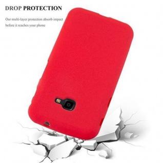 Cadorabo Hülle für Samsung Galaxy XCover 4 in FROST ROT - Handyhülle aus flexiblem TPU Silikon - Silikonhülle Schutzhülle Ultra Slim Soft Back Cover Case Bumper - Vorschau 5