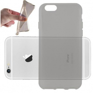 Cadorabo Hülle für Apple iPhone 6 PLUS / iPhone 6S PLUS - Hülle in TRANSPARENT SCHWARZ ? Handyhülle aus TPU Silikon im Ultra Slim 'AIR' Design - Ultra Slim Soft Backcover Case Bumper