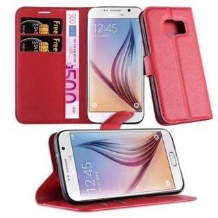 Cadorabo Hülle für Samsung Galaxy S7 in KARMIN ROT Handyhülle mit Magnetverschluss, Standfunktion und Kartenfach Case Cover Schutzhülle Etui Tasche Book Klapp Style