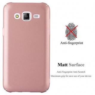 Cadorabo Hülle für Samsung Galaxy J5 2015 in METALL ROSE GOLD ? Hardcase Handyhülle aus Plastik gegen Kratzer und Stöße ? Schutzhülle Bumper Ultra Slim Back Case Hard Cover - Vorschau 2