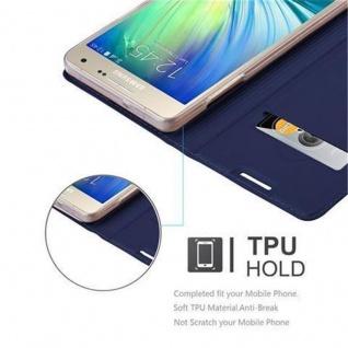 Cadorabo Hülle für Samsung Galaxy A5 2015 in CLASSY DUNKEL BLAU - Handyhülle mit Magnetverschluss, Standfunktion und Kartenfach - Case Cover Schutzhülle Etui Tasche Book Klapp Style - Vorschau 2