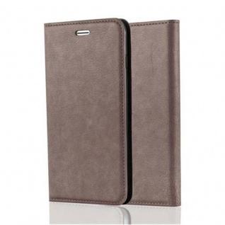 Cadorabo Hülle für Apple iPhone 8 PLUS / 7 PLUS / 7S PLUS in KAFFEE BRAUN - Handyhülle mit Magnetverschluss, Standfunktion und Kartenfach - Case Cover Schutzhülle Etui Tasche Book Klapp Style