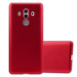 Cadorabo Hülle für Huawei MATE 10 PRO in METALLIC ROT Handyhülle aus flexiblem TPU Silikon Silikonhülle Schutzhülle Ultra Slim Soft Back Cover Case Bumper