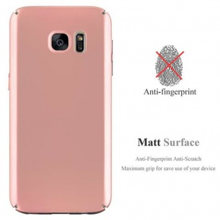 Cadorabo Hülle für Samsung Galaxy S7 in METALL ROSE GOLD - Hardcase Handyhülle aus Plastik gegen Kratzer und Stöße - Schutzhülle Bumper Ultra Slim Back Case Hard Cover - Vorschau 2