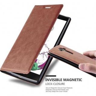 Cadorabo Hülle für LG G4 / G4 PLUS in CAPPUCCINO BRAUN - Handyhülle mit Magnetverschluss, Standfunktion und Kartenfach - Case Cover Schutzhülle Etui Tasche Book Klapp Style
