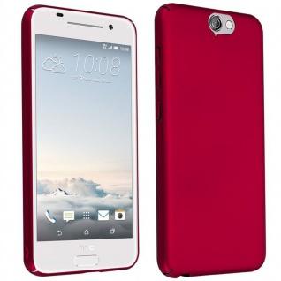 Cadorabo Hülle für HTC One A9 in METALL ROT ? Hardcase Handyhülle aus Plastik gegen Kratzer und Stöße ? Schutzhülle Bumper Ultra Slim Back Case Hard Cover