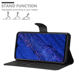Cadorabo Hülle für Huawei MATE 20 in PHANTOM SCHWARZ - Handyhülle mit Magnetverschluss, Standfunktion und Kartenfach - Case Cover Schutzhülle Etui Tasche Book Klapp Style - Vorschau 4