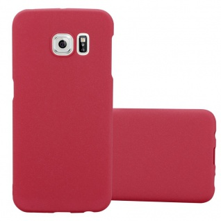 Cadorabo Hülle für Samsung Galaxy S6 EDGE PLUS in FROSTY ROT - Hardcase Handyhülle aus Plastik gegen Kratzer und Stöße - Schutzhülle Bumper Ultra Slim Back Case Hard Cover