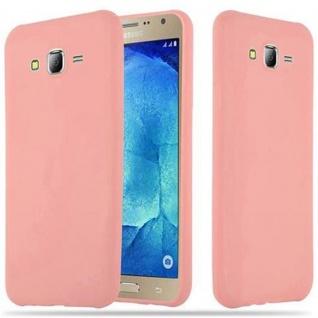 Cadorabo Hülle für Samsung Galaxy J7 2015 in CANDY ROSA - Handyhülle aus flexiblem TPU Silikon - Silikonhülle Schutzhülle Ultra Slim Soft Back Cover Case Bumper