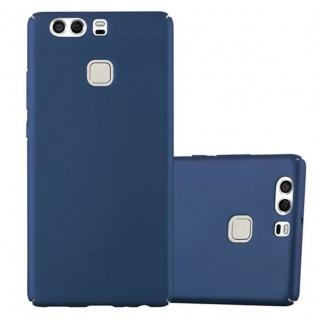 Cadorabo Hülle für Huawei P9 in METALL BLAU Hardcase Handyhülle aus Plastik gegen Kratzer und Stöße Schutzhülle Bumper Ultra Slim Back Case Hard Cover