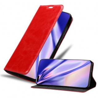 Cadorabo Hülle für Huawei P40 PRO in APFEL ROT Handyhülle mit Magnetverschluss, Standfunktion und Kartenfach Case Cover Schutzhülle Etui Tasche Book Klapp Style