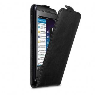 Cadorabo Hülle für Blackberry Z10 in NACHT SCHWARZ - Handyhülle im Flip Design mit Magnetverschluss - Case Cover Schutzhülle Etui Tasche Book Klapp Style