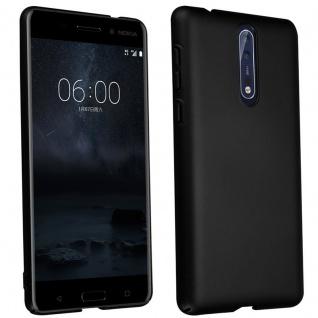 Cadorabo Hülle für Nokia 8 2017 in METALL SCHWARZ - Hardcase Handyhülle aus Plastik gegen Kratzer und Stöße - Schutzhülle Bumper Ultra Slim Back Case Hard Cover