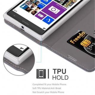 Cadorabo Hülle für Nokia Lumia 1020 in GRAU SCHWARZ - Handyhülle mit Magnetverschluss, Standfunktion und Kartenfach - Case Cover Schutzhülle Etui Tasche Book Klapp Style - Vorschau 3