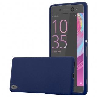 Cadorabo Hülle für Sony Xperia XA ULTRA in FROST DUNKEL BLAU - Handyhülle aus flexiblem TPU Silikon - Silikonhülle Schutzhülle Ultra Slim Soft Back Cover Case Bumper