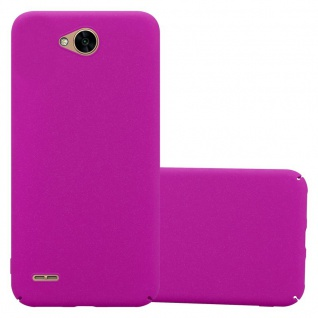 Cadorabo Hülle für LG X Power 2 in FROSTY PINK Hardcase Handyhülle aus Plastik gegen Kratzer und Stöße Schutzhülle Bumper Ultra Slim Back Case Hard Cover
