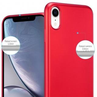 Cadorabo Hülle für Apple iPhone XR in METALLIC ROT - Handyhülle aus flexiblem TPU Silikon - Silikonhülle Schutzhülle Ultra Slim Soft Back Cover Case Bumper - Vorschau 4