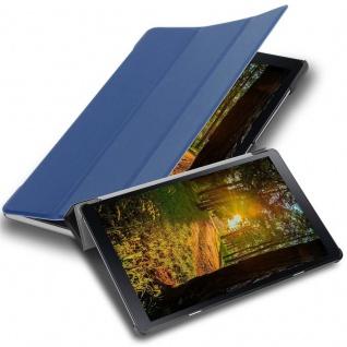 """Cadorabo Tablet Hülle für Samsung Galaxy Tab A (10, 5"""" Zoll) T590 in JERSEY DUNKEL BLAU Ultra Dünne Book Style Schutzhülle mit Auto Wake Up und Standfunktion aus Kunstleder"""