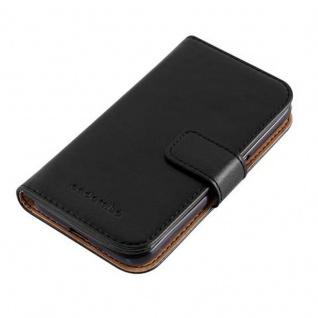 Cadorabo Hülle für Samsung Galaxy J1 2016 in GRAPHIT SCHWARZ - Handyhülle mit Magnetverschluss, Standfunktion und Kartenfach - Case Cover Schutzhülle Etui Tasche Book Klapp Style - Vorschau 3