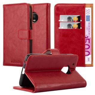 Cadorabo Hülle für Motorola MOTO G5 PLUS in WEIN ROT ? Handyhülle mit Magnetverschluss, Standfunktion und Kartenfach ? Case Cover Schutzhülle Etui Tasche Book Klapp Style