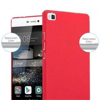Cadorabo Hülle für Huawei P8 in FROSTY ROT - Hardcase Handyhülle aus Plastik gegen Kratzer und Stöße - Schutzhülle Bumper Ultra Slim Back Case Hard Cover - Vorschau 5