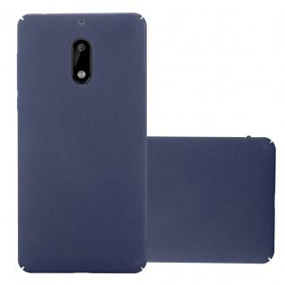 Cadorabo Hülle für Nokia 6 2017 in FROSTY BLAU - Hardcase Handyhülle aus Plastik gegen Kratzer und Stöße - Schutzhülle Bumper Ultra Slim Back Case Hard Cover