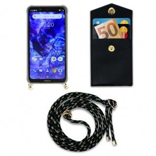 Cadorabo Handy Kette für Nokia 5.1 Plus in CAMOUFLAGE - Silikon Necklace Umhänge Hülle mit Gold Ringen, Kordel Band Schnur und abnehmbarem Etui ? Schutzhülle - Vorschau 4