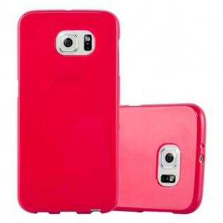 Cadorabo Hülle für Samsung Galaxy S6 in JELLY ROT ? Handyhülle aus flexiblem TPU Silikon ? Silikonhülle Schutzhülle Ultra Slim Soft Back Cover Case Bumper