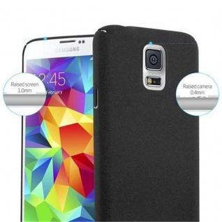 Cadorabo Hülle für Samsung Galaxy S5 / S5 NEO in FROSTY SCHWARZ - Hardcase Handyhülle aus Plastik gegen Kratzer und Stöße - Schutzhülle Bumper Ultra Slim Back Case Hard Cover - Vorschau 5