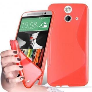 Cadorabo Hülle für HTC ONE E8 in INFERNO ROT - Handyhülle aus flexiblem TPU Silikon - Silikonhülle Schutzhülle Ultra Slim Soft Back Cover Case Bumper