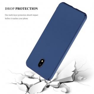 Cadorabo Hülle für Samsung Galaxy J7 2017 in METALL BLAU Hardcase Handyhülle aus Plastik gegen Kratzer und Stöße Schutzhülle Bumper Ultra Slim Back Case Hard Cover