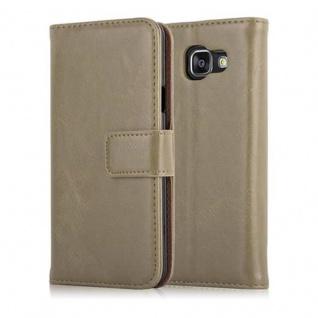 Cadorabo Hülle für Samsung Galaxy A3 2016 in CAPPUCCINO BRAUN ? Handyhülle mit Magnetverschluss, Standfunktion und Kartenfach ? Case Cover Schutzhülle Etui Tasche Book Klapp Style - Vorschau 2