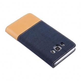 Cadorabo Hülle für Samsung Galaxy J5 2016 in DUNKEL BLAU BRAUN - Handyhülle mit Magnetverschluss, Standfunktion und Kartenfach - Case Cover Schutzhülle Etui Tasche Book Klapp Style - Vorschau 4
