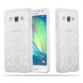 Samsung Galaxy A3 2015 Hardcase Hülle in WEIß von Cadorabo - Blumen Paisley Henna Design Schutzhülle ? Handyhülle Bumper Back Case Cover