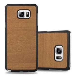 Cadorabo Hülle für Samsung Galaxy NOTE 5 in WOODY BRAUN ? Hardcase Handyhülle aus Plastik gegen Kratzer und Stöße ? Schutzhülle Bumper Ultra Slim Back Case Hard Cover