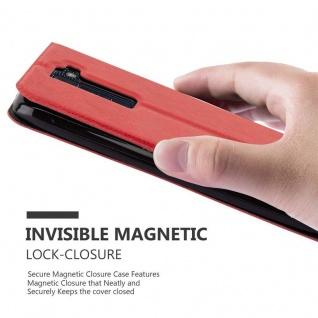 Cadorabo Hülle für LG K8 2016 in SAFRAN ROT - Handyhülle mit Magnetverschluss, Standfunktion und 2 Sichtfenstern - Case Cover Schutzhülle Etui Tasche Book Klapp Style - Vorschau 5