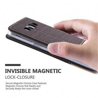 Cadorabo Hülle für Samsung Galaxy J5 2016 in ANTRAZIT GOLD - Handyhülle mit Magnetverschluss, Standfunktion und Kartenfach - Case Cover Schutzhülle Etui Tasche Book Klapp Style - Vorschau 5