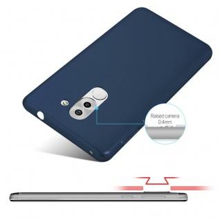 Cadorabo Hülle für Honor 6X in METALL BLAU - Hardcase Handyhülle aus Plastik gegen Kratzer und Stöße - Schutzhülle Bumper Ultra Slim Back Case Hard Cover - Vorschau 4